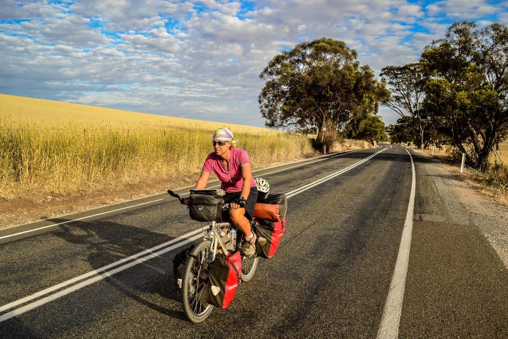 Amaya Williams round the world cyclist
