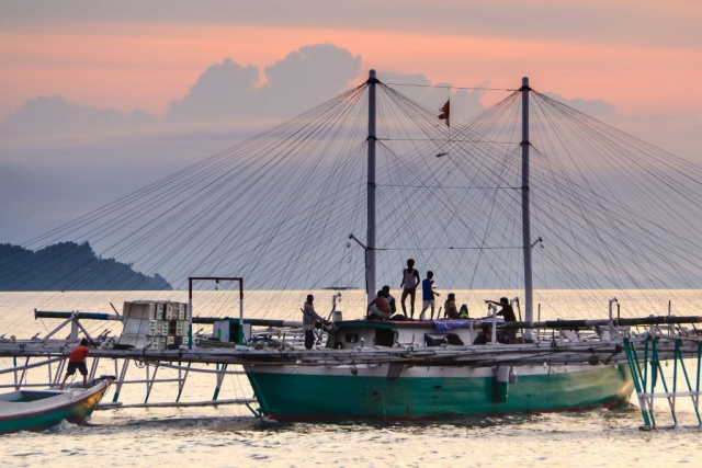 fishing boat on Sulawesi Indonesia