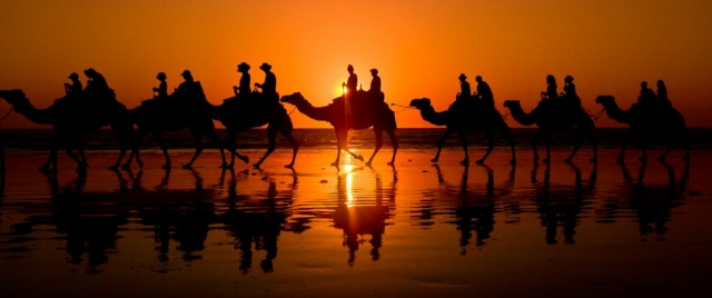 Sunset on Cable Beach, Broome,Australia.