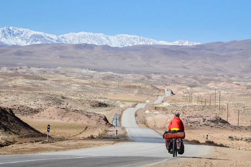 Bike touring in northern Iran.