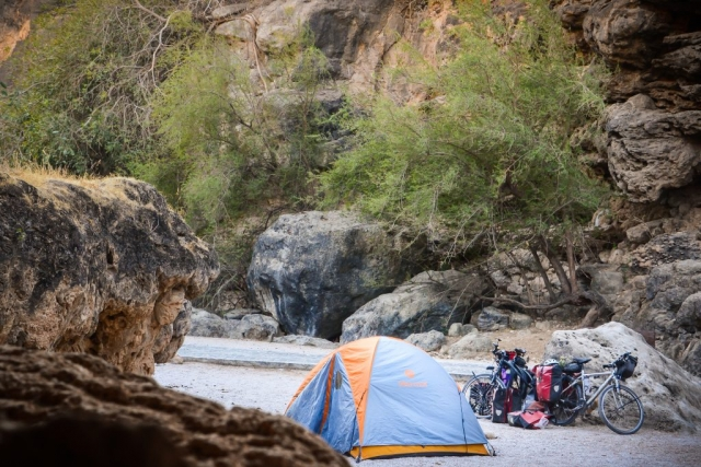 Wild camping in Oman.