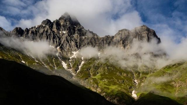 Moody sky in the Indian Himalaya.