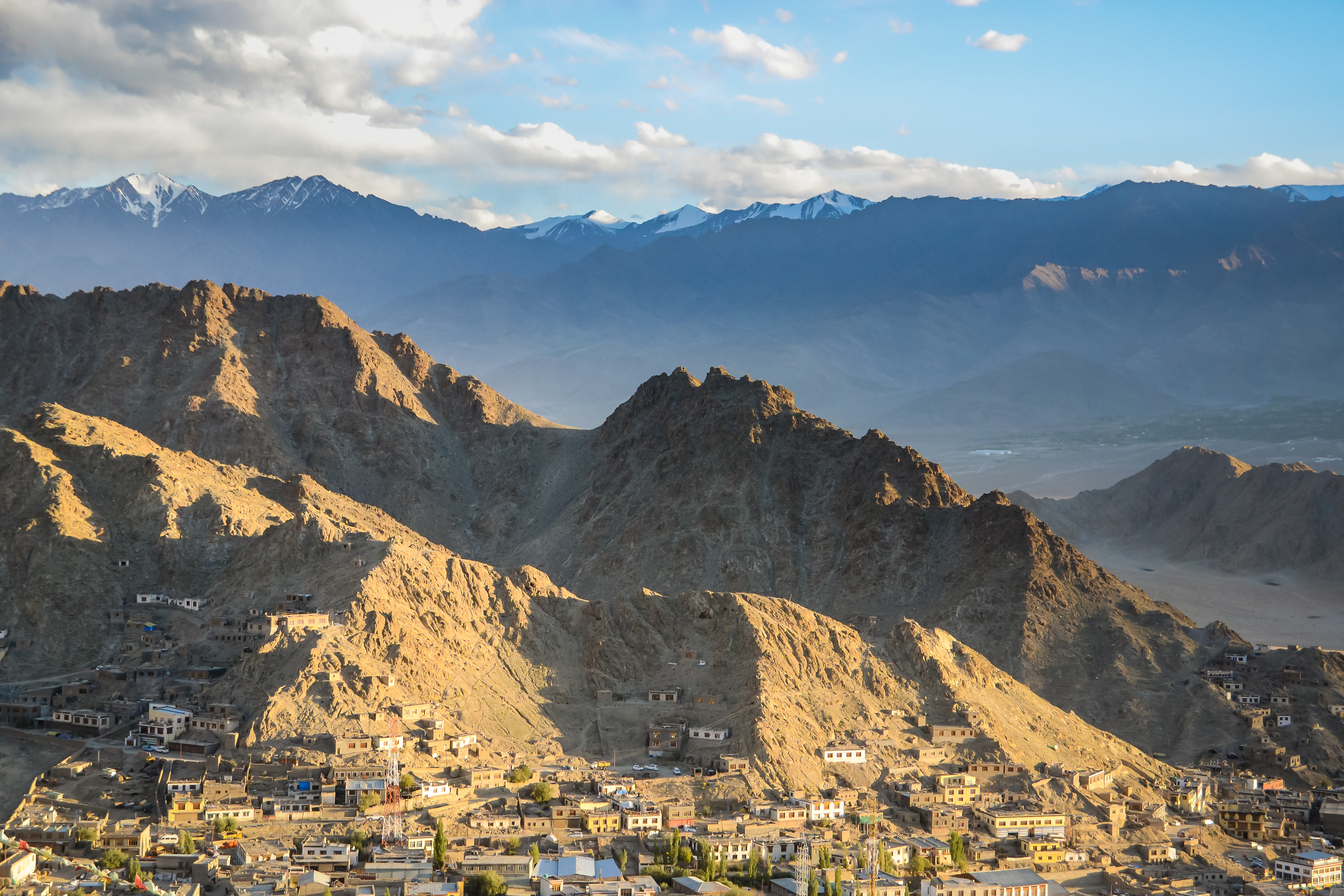 The Ladki City of Leh nestled in a remote valley of the Indian Himalaya.