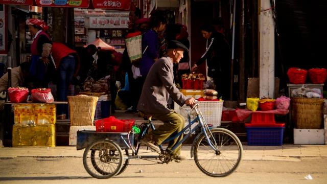 The streets of Shangri-La, China
