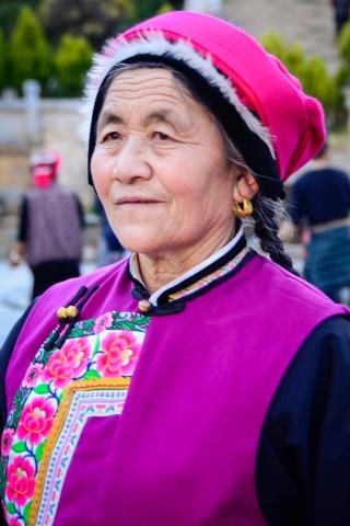 Tibetan women in Sichuan, China.