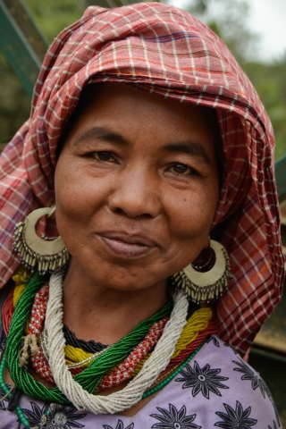 Tribal woman from the Bru community in Tripura, India.